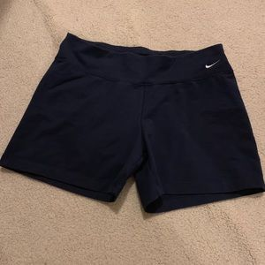 Nike dri fit women black workout shorts sz Large